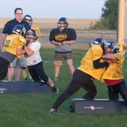 The Generals Girls football practice August 30, 2018