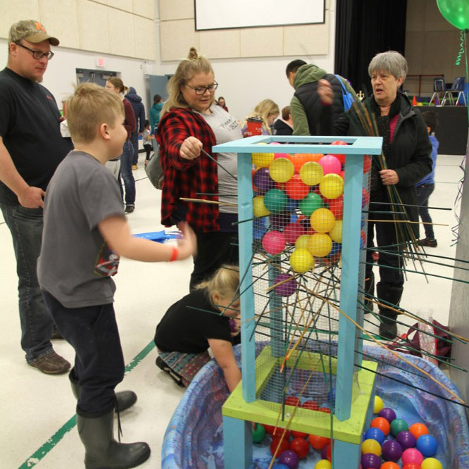 MFRC Children's Carnival: The Moosomin Family Resource Centre held its Children's Carnival on Saturday, Jan. 12, 2019 at the Conexus Convention Centre. There were games, a bouncer, an obstacle course, cotton candy, popcorn and make your own sundae bar, and a prize table for the kids. Hundreds of kids came out to enjoy the day and have fun!