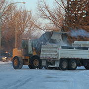 The Town of Moosomin Public Works crew was busy clearing snow after a snowfall at the end of January 2019.