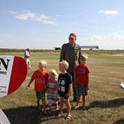 Vimy Flight landing at Moosomin Airport on August 10, 2017