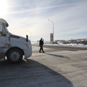 United We Roll Convoy to Ottawa passing through Moosomin, SK on February 15, 2019.