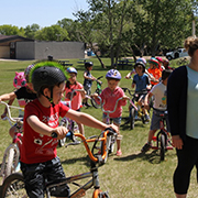 MacLeod Elementary School in Moosomin had a bike rodeo on Friday, June 14, 2019 where students learned all about bike safety and had their helmets checked.