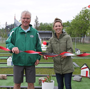 The grand opening for Kim Setrum's mini golf course in Moosomin was held on Sunday, June 16, 2019. The new mini golf course is located at Bradley Park in Moosomin.