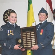 The #802 Pipestone Air Cadets held their Annual Ceremonial Review on Monday, May 28 and their annual awards were presented.