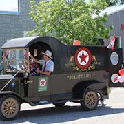Elkhorn celebrated Canada Day with a full day of events, including a pancake breakfast, parade, threshing display, blacksmith display, touch a truck, saw mill demonstrations, supper, and fireworks.