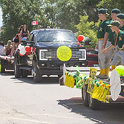 Redvers held all kinds of events for Canada Day including a parade, children's fireman rodeo, dunk tank, slo-pitch, pancake breakfast, supper, cake and fireworks.