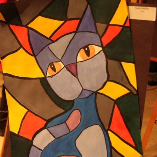"""McNaughton High School hosted an art show featuring the artwork of Grade 10, 11 and 12 students on Thursday, January 18, 2018. """"Uptown Girl"""" by Lexie Garvey."""