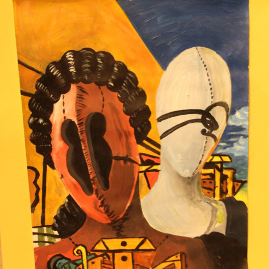 """McNaughton High School hosted an art show featuring the artwork of Grade 10, 11 and 12 students on Thursday, January 18, 2018. """"Birds Eye View"""" by Brooklynn Davidson."""