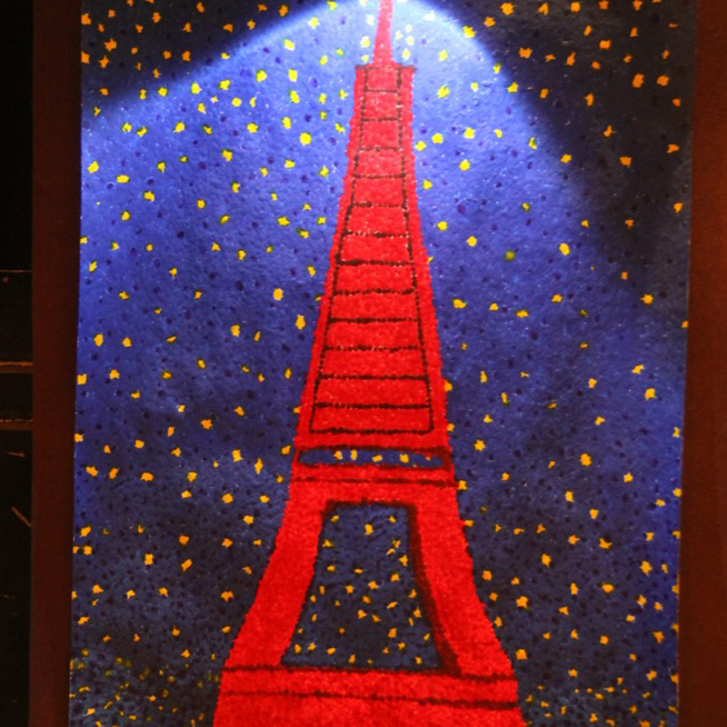 "McNaughton High School hosted an art show featuring the artwork of Grade 10, 11 and 12 students on Thursday, January 18, 2018. ""Night in Paris"" by Haley Roe."