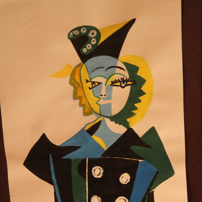 McNaughton High School hosted an art show featuring the artwork of Grade 10, 11 and 12 students on Thursday, January 18, 2018. Picasso Artwork by Boris Khitsenko.