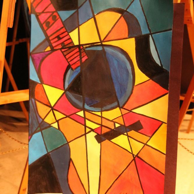 "McNaughton High School hosted an art show featuring the artwork of Grade 10, 11 and 12 students on Thursday, January 18, 2018. ""Acoustic"" by Ashton Istace."