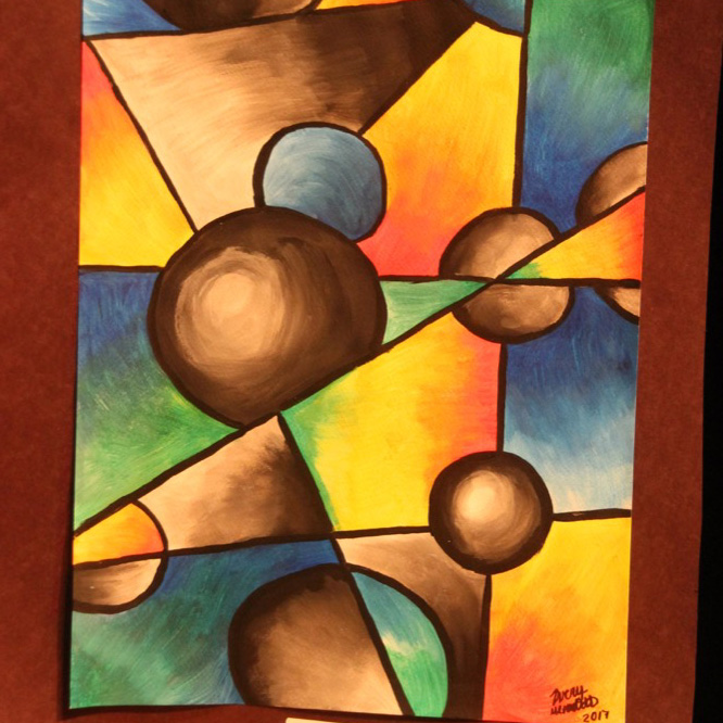 """McNaughton High School hosted an art show featuring the artwork of Grade 10, 11 and 12 students on Thursday, January 18, 2018. """"Blend"""" by Avery Meredith."""