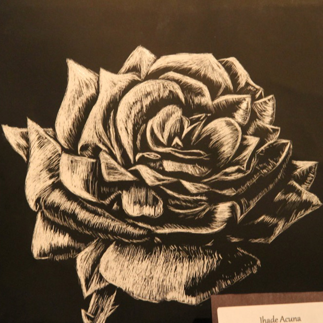 McNaughton High School hosted an art show featuring the artwork of Grade 10, 11 and 12 students on Thursday, January 18, 2018. Artwork by Jhade Acuna.