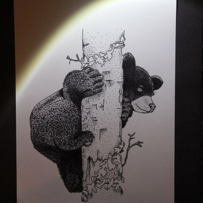 """McNaughton High School hosted an art show featuring the artwork of Grade 10, 11 and 12 students on Thursday, January 18, 2018. """"Little Bear"""" by Cheyenne Smith."""