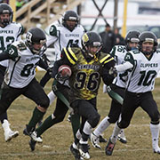 Rural Manitoba Football League Finals. Dauphin Clippers at Moosomin Rangers. November 4, 2017.