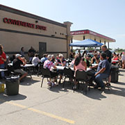 The Rolling Barrage cross-country motorcyle ride rolled into Moosomin Friday, August 16, 2019.