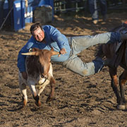 Steer wrestling, barrel racing, bull riding, tie down roping, team roping, bareback, wild pony races, and saddle bronc made up of some of the rodeo action at the Moosomin Rodeo on Friday, July 5 and Saturday, July 6, 2019.
