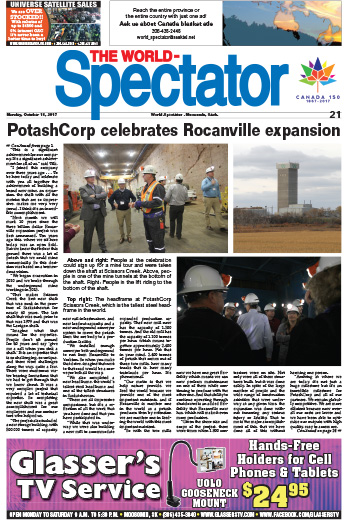 Biggest potash mine in the world: PotashCorp celebrates Rocanville expansion