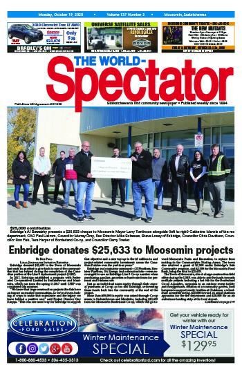 Enbridge donates $25,633 to Moosomin projects