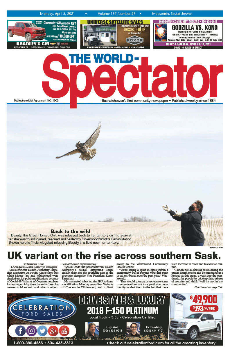 UK variant on the rise across southern Sask.