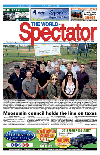 Moosomin council holds the line on taxes