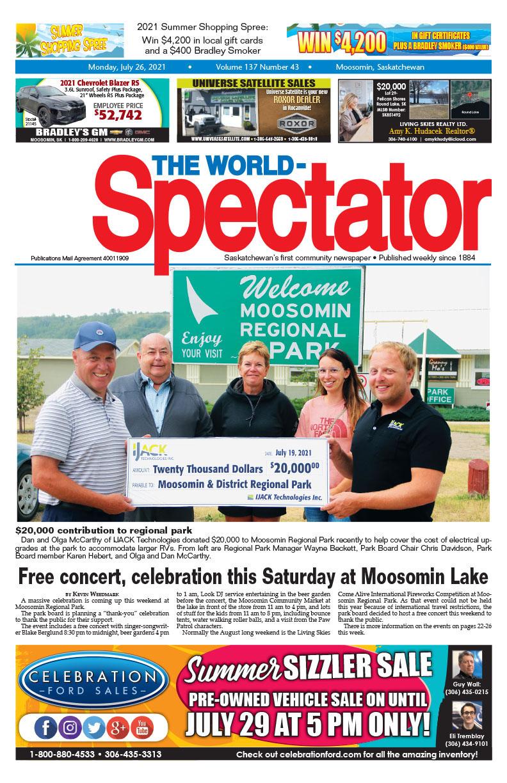 Free concert, celebration this Saturday at Moosomin Lake