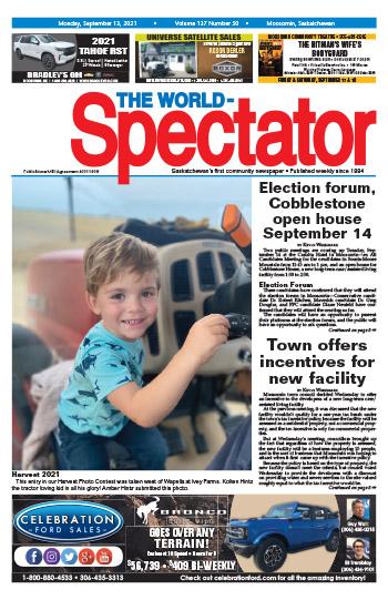Election forum, Cobblestone open house September 14