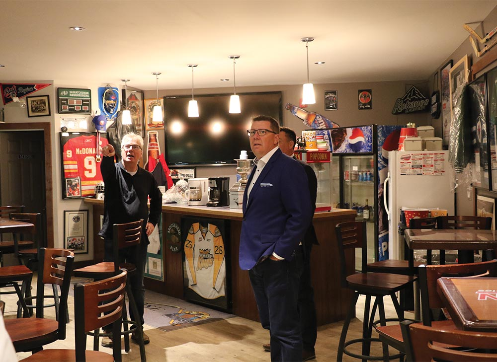 Moosomin recreation director Mike Schwean gave Saskatchewan Premier Scott Moe a tour of Moosomin recreation facilities Wednesday, including the Blue Moose Lounge. The premier attended.