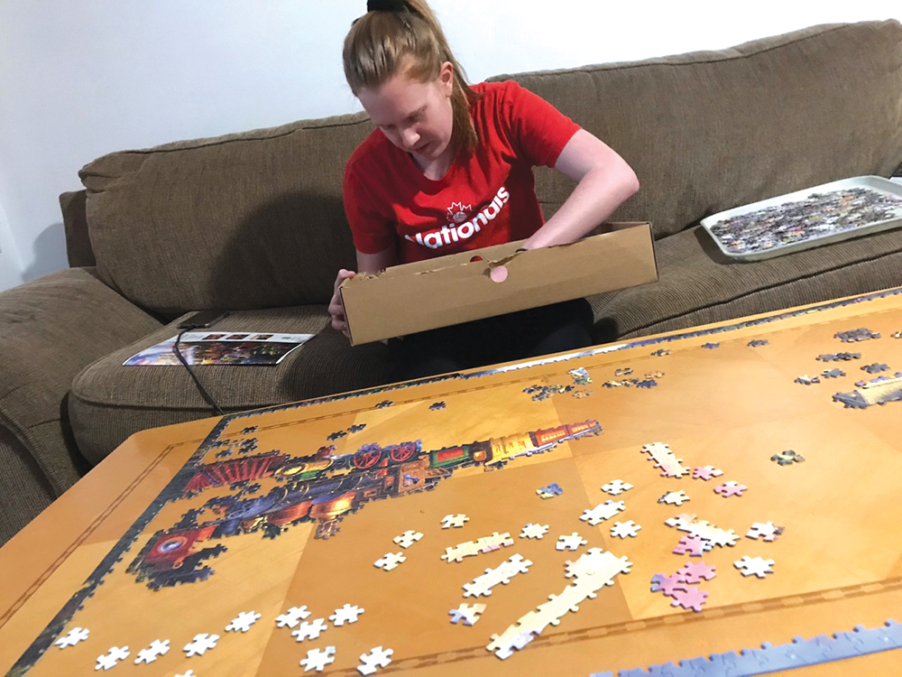 Puzzles at the Walkers.