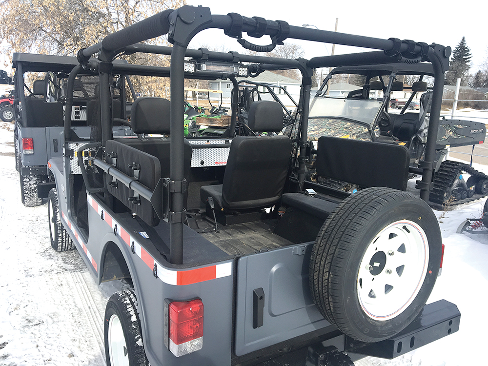 Mahindra Roxors are modified for use underground in Saskatchewan mines at Universe Satellite Sales in Rocanville.