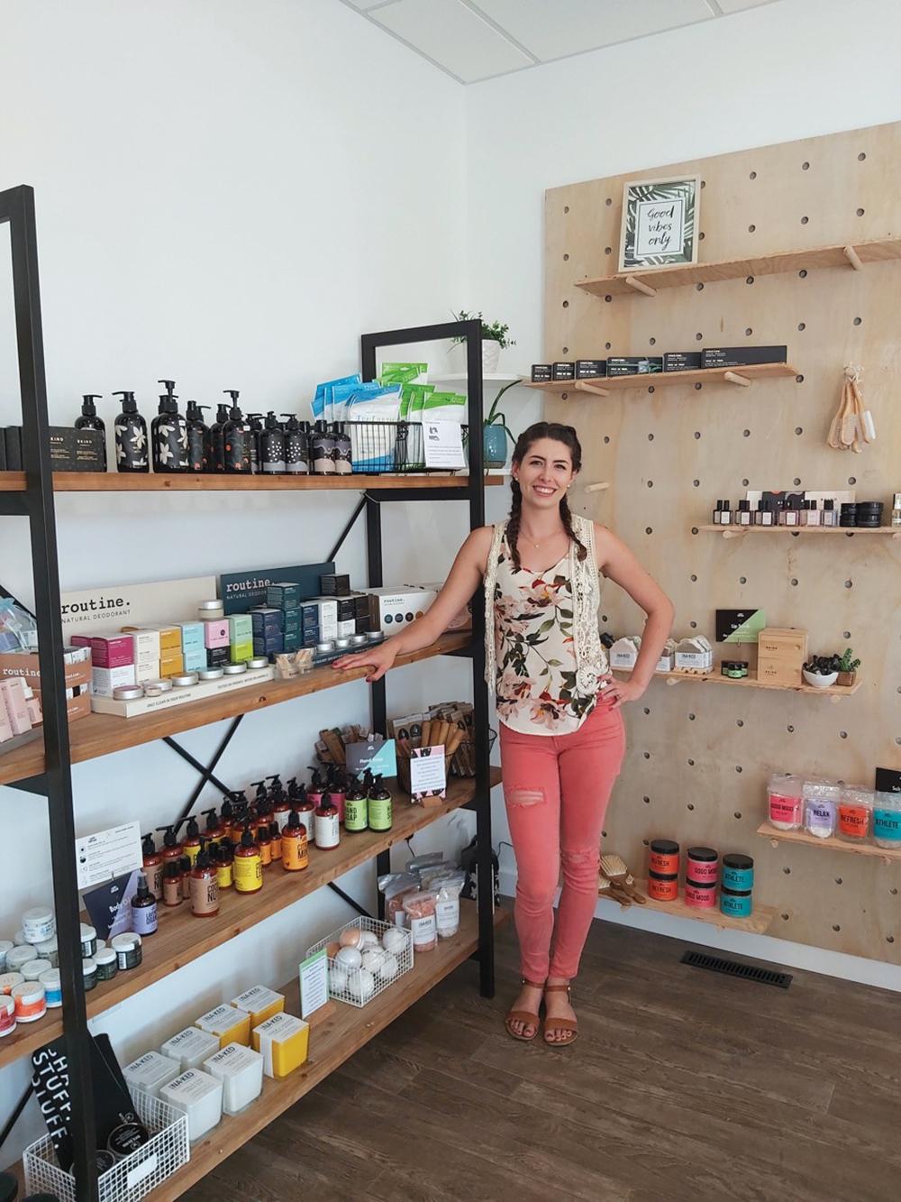 Elizabeth Fouillard  at her business Essentials Wellness Spa.