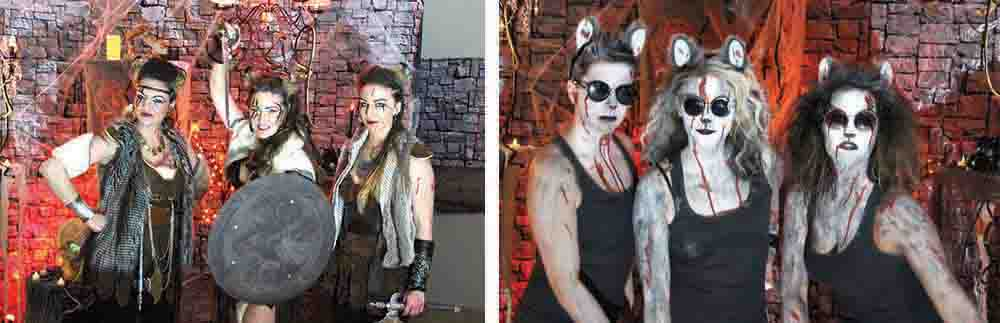 Some of the wild costumes at the Esterhazy Monster Bash in past years.
