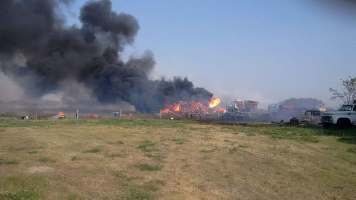 A series of grass fires started along the CP main line between Moosomin and Fleming Wednesday due to sparks from a passing train. Burning bans are now in effect in several local RMs due to dry conditions.