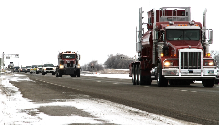 A truck convoy from Virden to Brandon that was held recently. A Resource Coalition convoy to Ottawa in February has been cancelled.