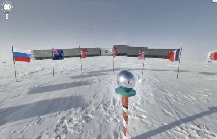 The South Pole, from Google Earth