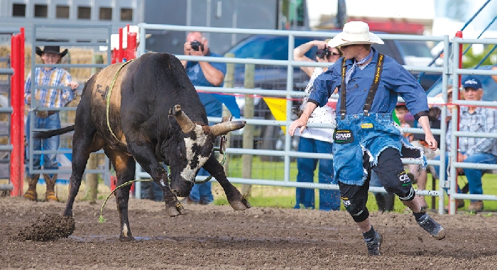 Kim Poole took this amazing photo at last year's Moose Mountain Pro Rodeo