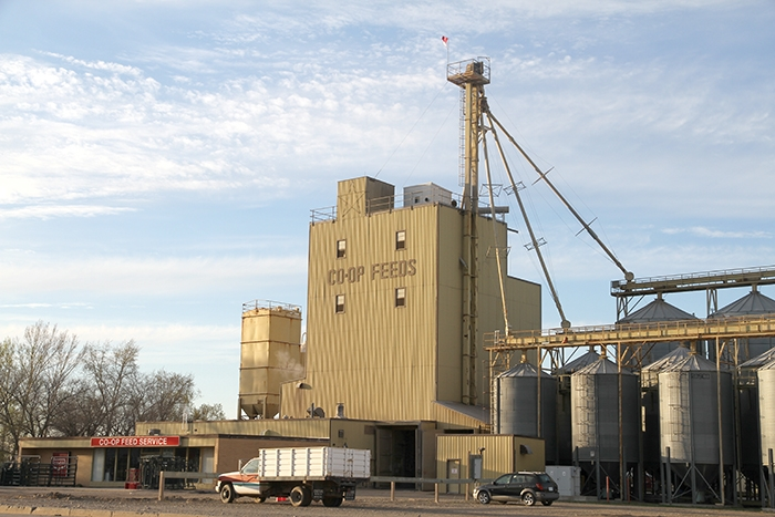Currently there are six Co-op Feeds facilities across Western Canada. As of this fall, the operation will be consolidated to three locations—Calgary, Saskatoon and Moosomin. Above is the Moosomin feed plant.