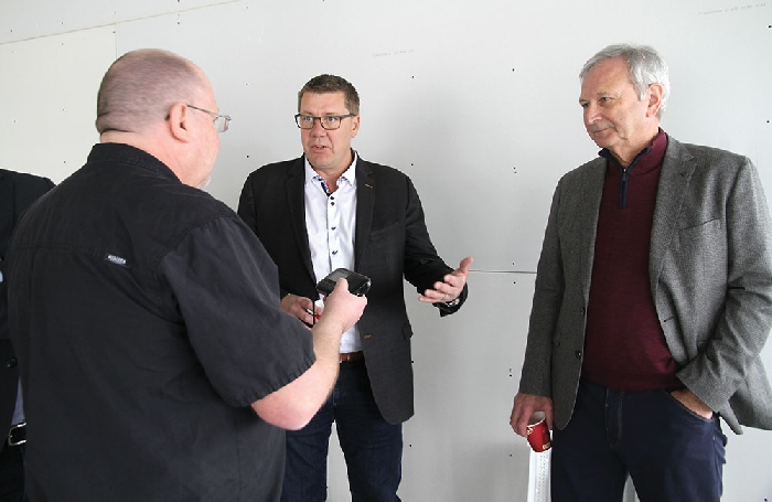 Kevin Weedmark interviews Saskatchewan Premier Scott Moe and New Brunswick Premier Blaine Higgs before the Moosomin Pro-Resource Rally Saturday, February 16 in Moosomin.