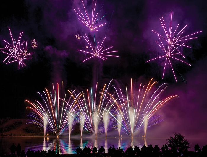 The Living Skies Come Alive International Fireworks Competition at Moosomin Regional Park features world-class fireworks displays over Moosomin Lake each summer. Kim Poole photo