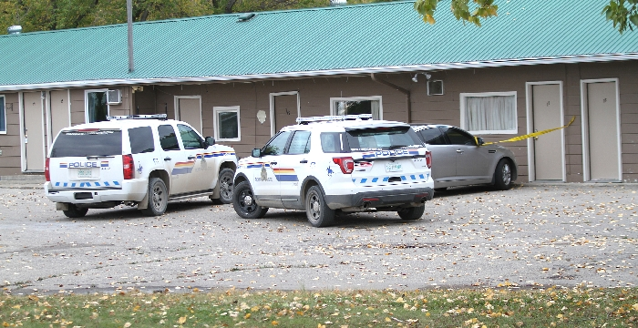 Moosomin RCMP were on the scene Monday afternoon.
