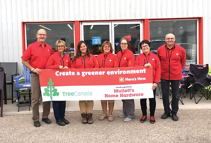 Mullett's Home Hardware is looking for volunteers to help plant trees at SEICC in Moosomin.