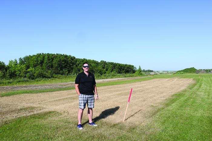 Councillor Murray Gray at the site of Moosomin's new community garden which will open in 2021. People will be able to rent a garden space for a nominal fee if they don't have a garden of their own. Anyone interested is asked to  contact Murray Gray or the town office, as they are trying to gauge interest.