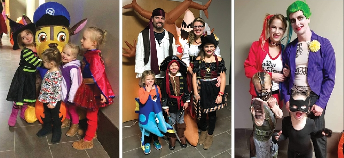 Some of the costumes and kids at a previous family dance.