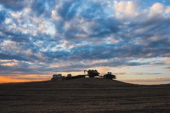 Olga McCarthy took this spring seeding photo at Hebert Grain Ventures near Fairlight