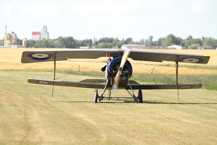 Pilot Dave Wilson landing in Moosomin