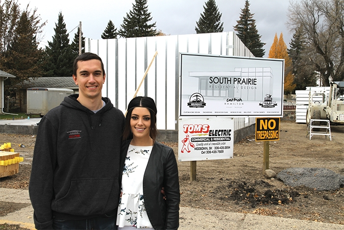 South Prairie Residential Design owners Jay and Carmen Hamilton with construction under way Friday, October 18