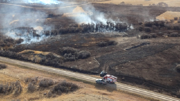 The fire near Bustall, Sask., covered more than 30,000 hectares, while the Tompkins fire was about 4,000 hectares in size. (Jenny Hagan/Backroad Photography)