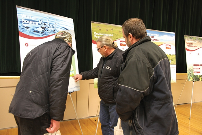 Scenes from the Canada Golden Fortune Potash Corporation open house at Broadview Tuesday.