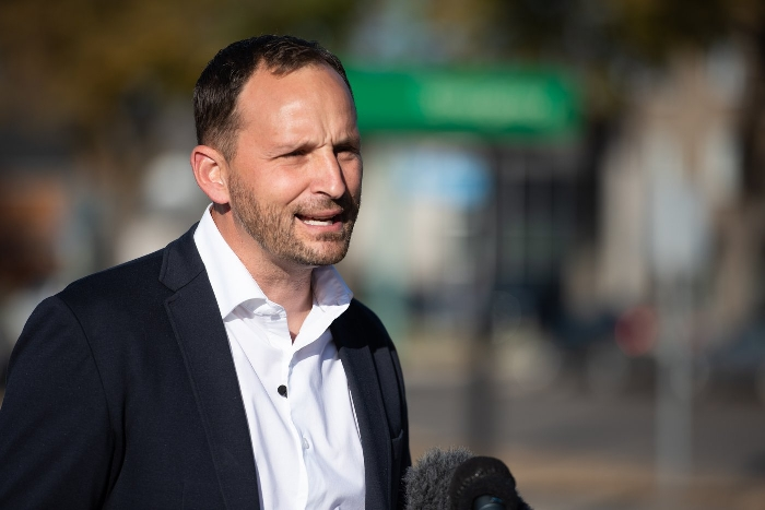 NDP Leader Ryan Meili on Oct. 5.