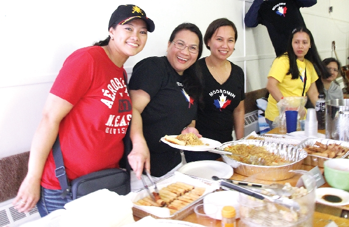 The Filipino community serving up lunch at last year's multicultural celebration in Moosomin